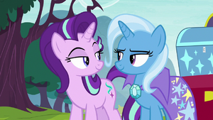 Starlight Glimmer and Trixie smirking S8E19