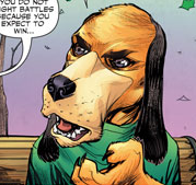 Augie in the in Exit Stage Left- The Snagglepuss Chronicles Comic