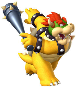 Bowser's appearance in Mario Super Sluggers