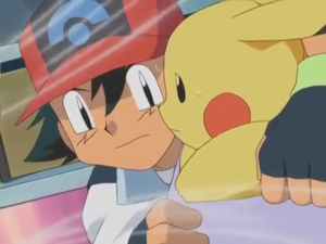 Ash and Pikachu are Going Down.