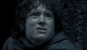 Frodo get stabbed by Cave Troll