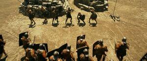 Pompeii attack begins