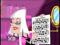 Blanca holding sheet music