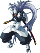 Hakumen (Continuum Shift, Character Select Artwork)