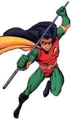 Robin in a comic