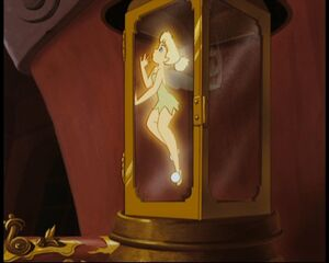 Tinker Bell trapped by Captain Hook