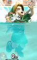 Young Link's Drowning Animation