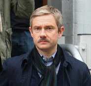 John with a mustache