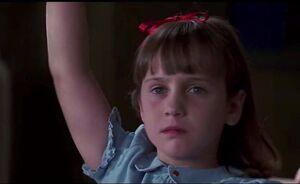 Matilda rashing her hand