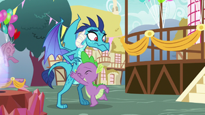 Spike hugging Princess Ember S7E15