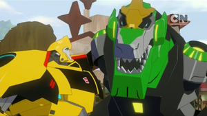 Grimlock and Bumblebee (S01E08)