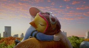 Stuart & Margalo hug