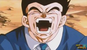 Dragonballz adult gohan crying