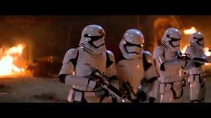 Star Wars VII The Force Awakens (2015) Conquest of Village Scene