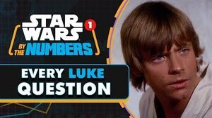 Every Question Luke Asks in Star Wars Star Wars By the Numbers