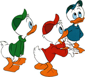 Huey Dewey and Louie Duck