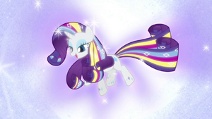 Rarity con poder del arcoiris