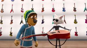 Rock-dog-guitar