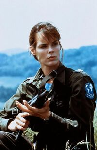 Alexandra Paul as Sabrina Carver in Detonator - Death Train