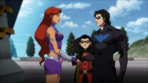 Starfire Robin Nightwing JLvsTT