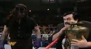 Paul Bearer speaking to Undertaker