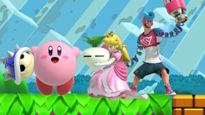 Spring Man Peach and Kirby