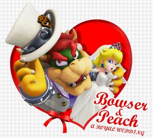 Super Mario Odyssey peach and bowser invitation