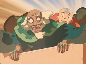 Aang and King Bumi