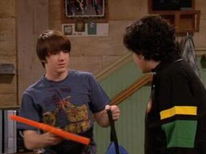 Drake and Josh reconcile with the foam finger given to Josh