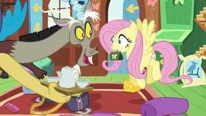 Fluttershy and Discord (Can I have tea)