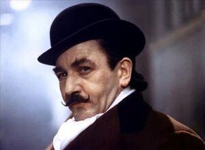 Albert Finney plays Poirot