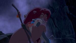 Simba hug Rafki