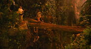 Ian Hawke convincing Zoe to save Dave from falling off a fallen log