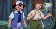 Celebi with Ash and Sam