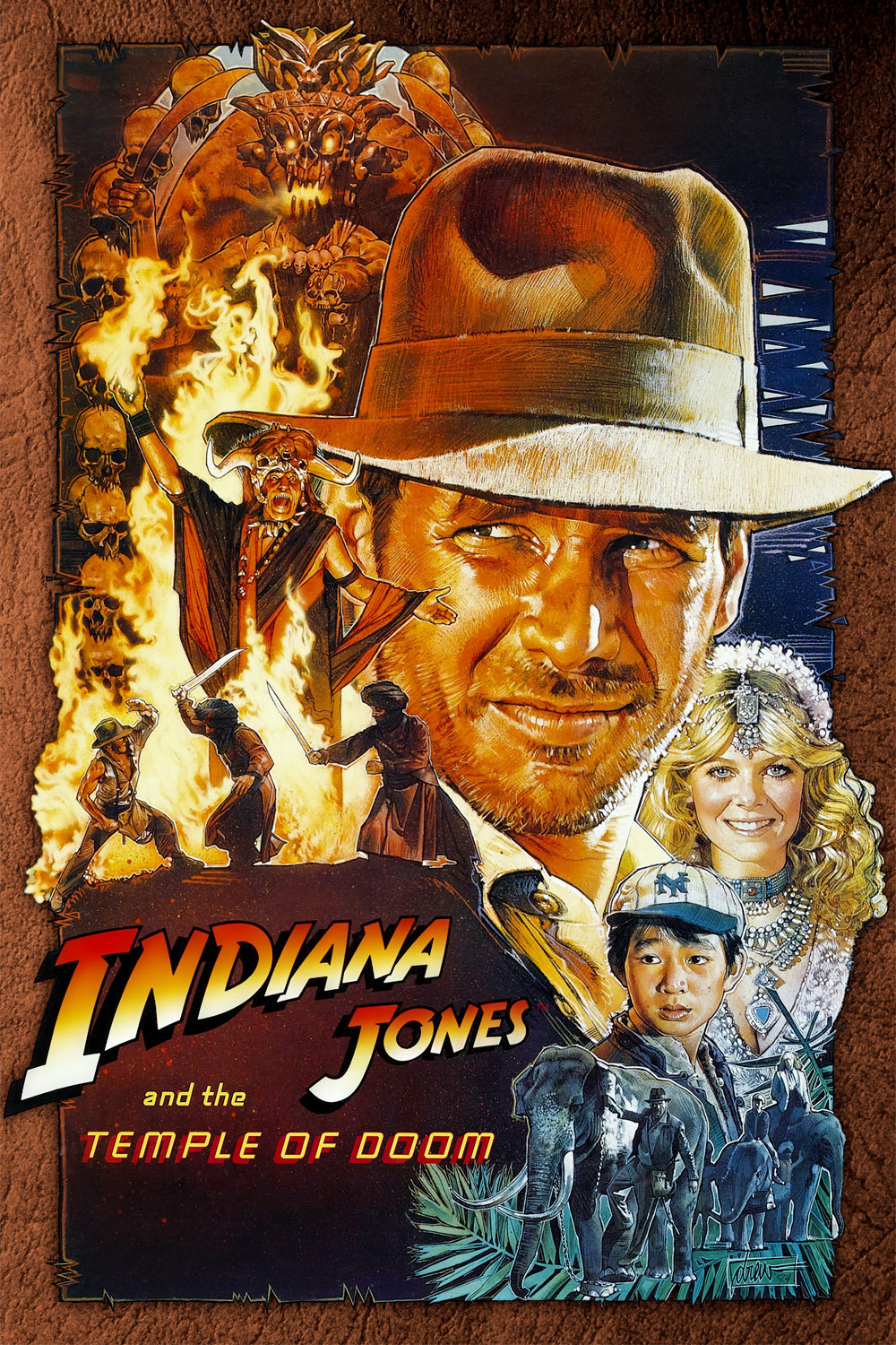 Image result for indiana jones and the temple of doom poster