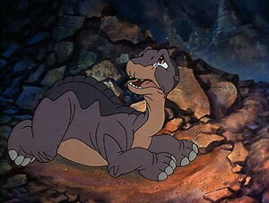 Littlefoot crying after his mother dies