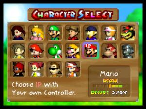 Mario Golf 64 All Characters