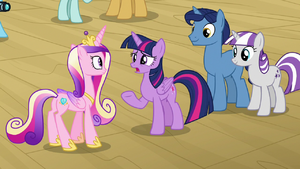 Twilight Sparkle how'd he know that? S7E22