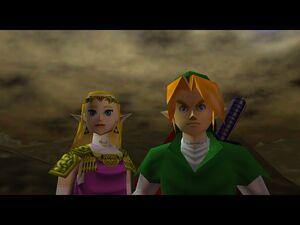 Zelda OOT 64 Link and Zelda