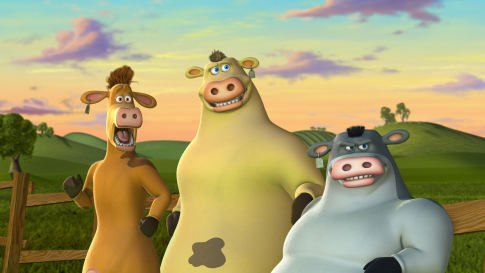 The Jersey Cows Are A Group Of Three Lead By Eddy It Consists Igg And Bud From Barnyard Movie Back At Tv Show