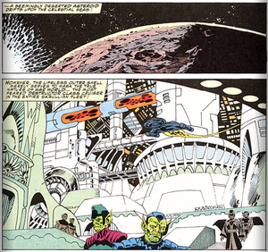 Skrull Destructor-Class Cruiser (Fantastic Four Vol 1 Issue 358)