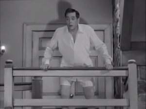 The Lucy–Desi Comedy Hour Lucy Meets The Mustache Ricky receiving good news from Lucy