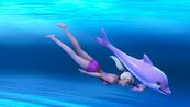 Zuma leads Liah underwater