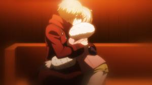 Ruruka and Izayoi's last kiss