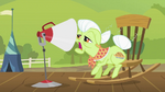 Granny Smith speaking through large end of megaphone S2E05