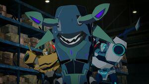 Bumblebee, Blurr and Sharkticon Ragebyte