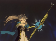 Oh My Goddess - Belldandy wielding her staff