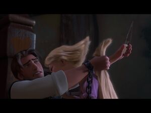 Rapunzel hair cut