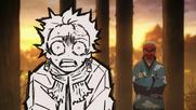 Sakonji telling Tanjiro to continue doing sword swings