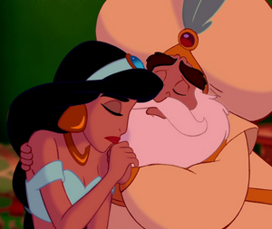 The Sultan comforting Jasmine